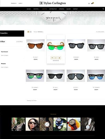 site web Dylan Carlington e-commerce maroc creation et hebergement web maroc heberdomain