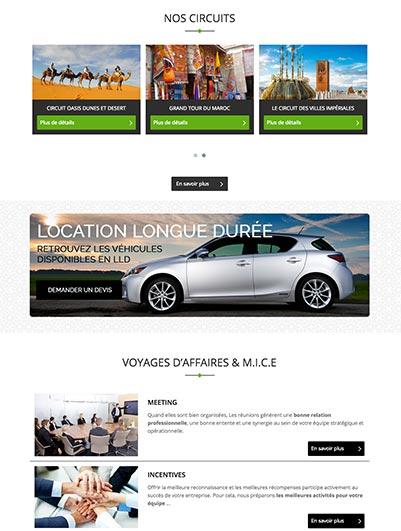 site web MIHANA TOUR maroc creation et hebergement web maroc heberdomain