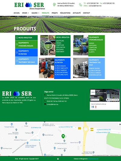 site web ERISER maroc creation et hebergement web maroc heberdomain
