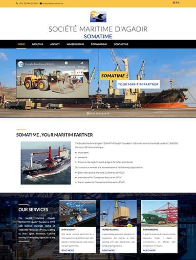 site web La Société Maritime d'Agadir SOMATIME creation et hebergement web maroc heberdomaine