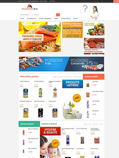 site web  magasin e-commerce maroc creation et hebergement web maroc heberdomain
