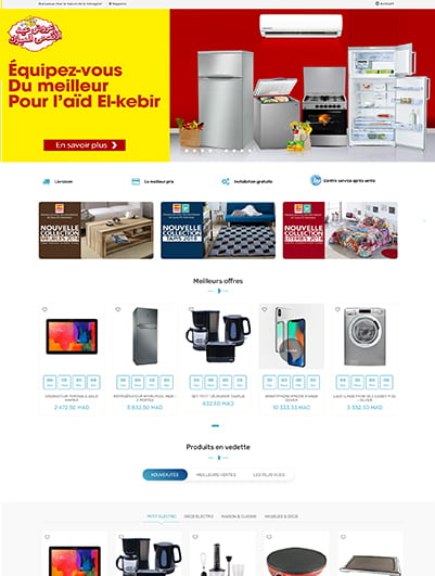 site web  menagere e-commerce maroc creation et hebergement web maroc heberdomain