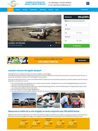 site web ORLANDO Rental maroc creation et hebergement web maroc heberdomaine
