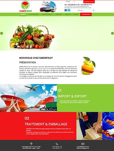 site web societe saberfruit maroc creation et hebergement web maroc heberdomain