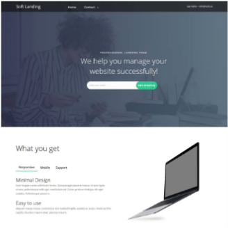 theme site builder soft-landing